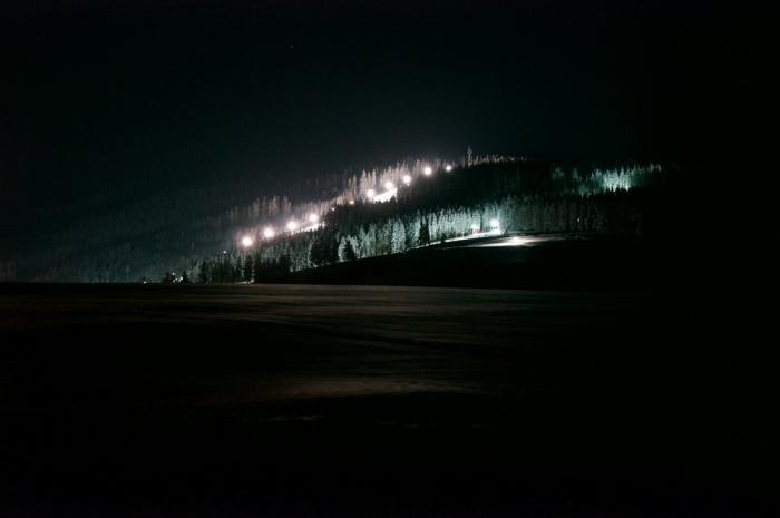 Apartmán 1 - výhled v noci